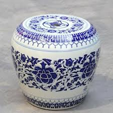 china painting blue and white ceramic drum porcelain garden stool