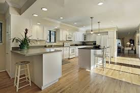flooring with honey oak kitchen cabinets ideas island best for