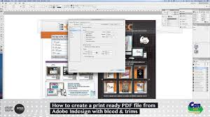 how to create a print ready pdf file from indesign youtube