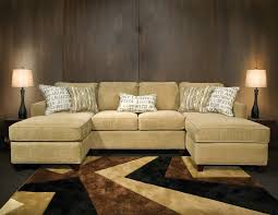 U Shaped Sectional With Chaise Double Chaise Sectional Sofa Sofas