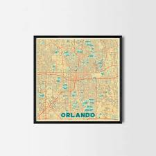 Orlando City Map by Orlando City Prints City Art Posters And Map Prints Cool