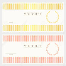 Free Blank Gift Certificate Templates Voucher Gift Certificate Template With Colorful Stripy Pattern