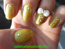 cute nails 3d bow nail art