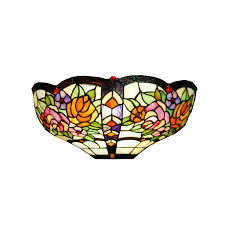 Stained Glass Light Fixtures Dining Room by Dale Tiffany Wall Lighting Frisrard One Light Wall Sconce In White