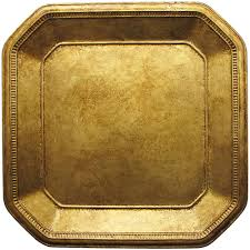 Wicker Paper Plate Holders Wholesale Wholesale Event Solutions Case Of 12 Gold Ancient 13