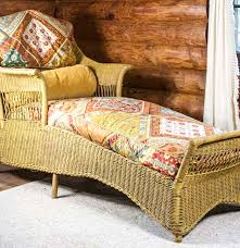 Wicker Chaise Lounge Antique Wicker Chaise Lounge Ebth