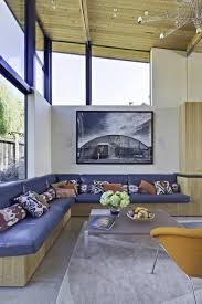 stinson beach house by wa design grey sectional wooden sofa and