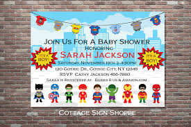 superhero baby shower superhero baby shower invitation boy