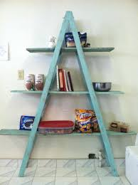 free standing ladder shelves cool oak wooden shelf bookshelf plans