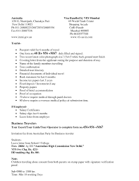 Visa Permission Letter Sle cover letter sle for work visa application