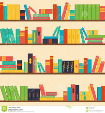 seamless pattern bookshelves stock illustration image 50363678