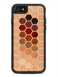 real wood hexagon inlay wood iphone 7 from the wood reserve