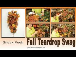 how to make a fall teardrop swag sneak peek