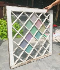 faux stained glass kitchen cabinets our diy stained glass window that hangs on the wall