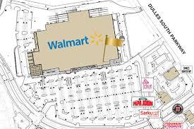 Walmart Floor Plan Walmart Dulles Landing Shopping Center
