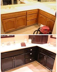 Staining Unfinished Oak Cabinets How To Stain Oak Cabinetry Tutorial The Kim Six Fix