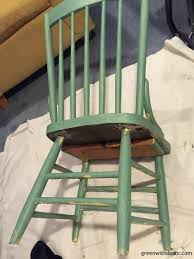 green with decor u2013 paradise found painting an old chair