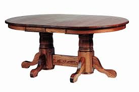 trestle dining table with bench wood double pedestal oval dining table