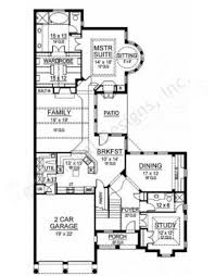 Patio Homes Floor Plans Canterbury Narrow House Plans Luxury House Plans