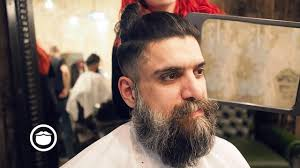 what is a viking haircut long hair viking cut at barbershop cut and grind youtube