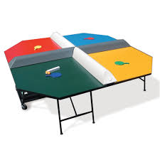 Table Tennis Dimensions The Four Square Table Tennis Game Hammacher Schlemmer