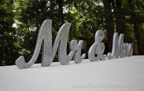 mr and mrs wedding signs 8 wooden mr and mrs sign gold and silver glitter