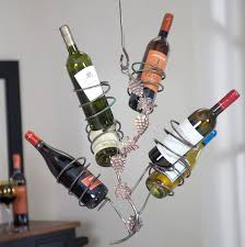 ceiling hanging wine rack home design ideas