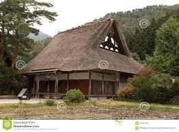 Traditional House Japanese Traditional House In Shirakawako Japan Stock Photo