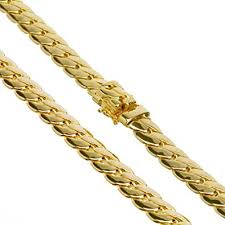 clasp gold necklace images Heavy cuban link chain necklace box clasp safety lock 14k gold jpg