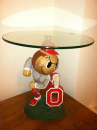 ohio state desk accessories ohio state university buckeyes glass top chair side table osu