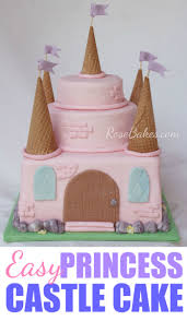 an easy pink princess castle cake princess castle pink