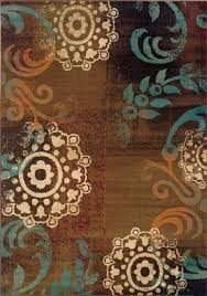 Chocolate Brown And Blue Area Rug by Sphinx Emerson Rugs Collection Payless Rugs