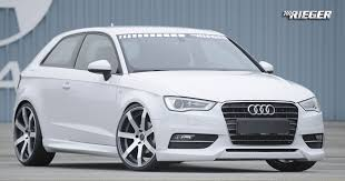 rieger audi audi a3 8v kit aftermarket styling parts 2013