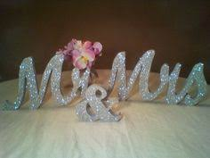mr and mrs sign for wedding white wooden mr mrs sign customised with clear diamontes