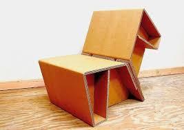 Cardboard Origami - chairigami funky cardboard furniture folded in shapes