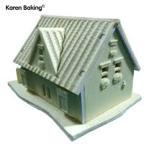 aliexpress com buy one set 3d silicone house building cake