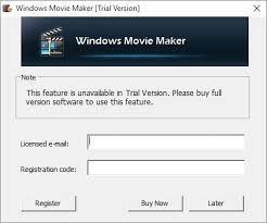 windows movie maker wont let me export without purchase