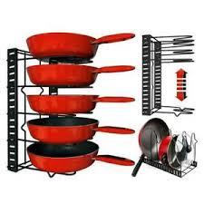 kitchen cupboard storage pans details about 5 tier cupboard kitchen cabinet storage organiser lids rack stand pan pot holder