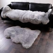 grey sheepskin rug ebay