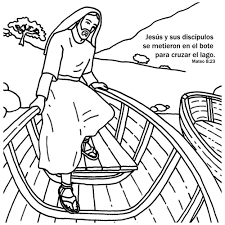 spanish jesus calms the storm bible story card for kids spanish