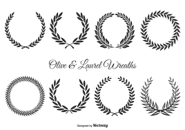 free vector art images graphics for free download olive and laurel wreath set download free vector art stock