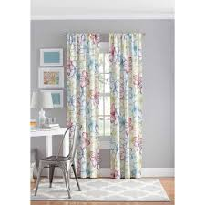 Floral Curtains Your Zone Floral Bedroom Curtain Panel Walmart