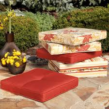 Red Patio Dining Sets - dining room simple and nice red round outdoor chair cushion for