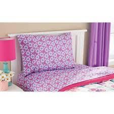 mainstays kids pretty princess bed in a bag bedding set walmart com
