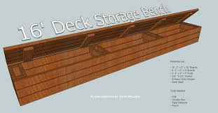 Outdoor Wood Bench With Storage Plans how to build a deck storage bench tools and materials list my