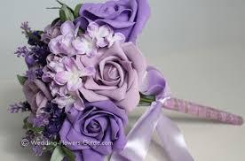 purple bouquets artificial wedding bouquets