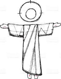 jesus resurrection vector illustration stock vector art 597239962