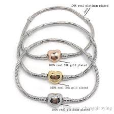 snake chain charm bracelet images Brand new high quality 100 plateinum plated snake chain 100 jpg