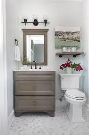 How To Paint A Tile Floor Bathroom - guest bathroom reveal bower power