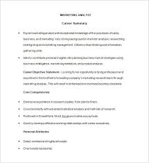 Sample Analyst Resume by Marketing Analyst Resume Template U2013 16 Free Samples Examples